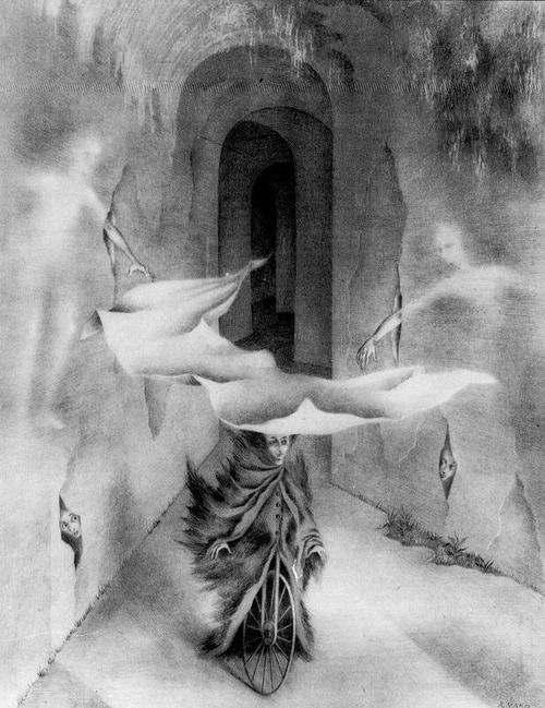 Remedios Varo - The Street of Hidden Presences, 1956
