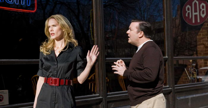 Stephanie March, Ricky Gervais in The Invention of Lying