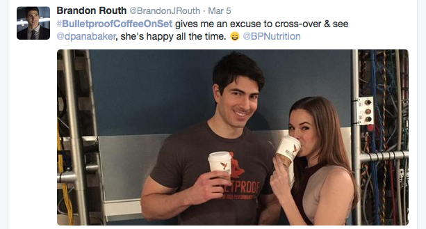 Brandon Routh and Danielle Panabaker