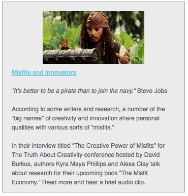 Misfits and Innovators-newsletter