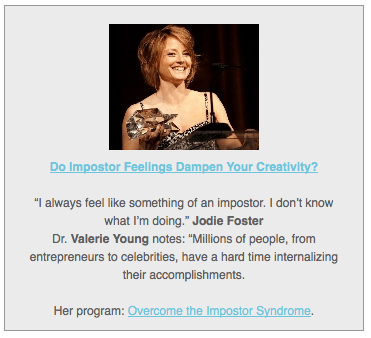 Do Impostor Feelings Dampen Your Creativity?