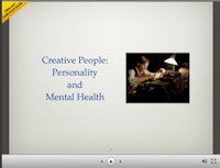 Creative People and Madness [Slideshare presentation]