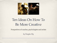 Ten ideas on how to be more creative