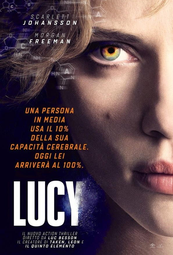 Scarlett Johansson-Lucy-Italian-poster