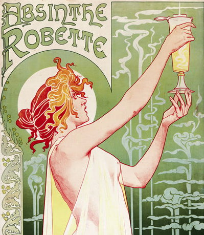 Absinthe Robette - Henri Privat-Livemont's 1896 poster extolling absinthe