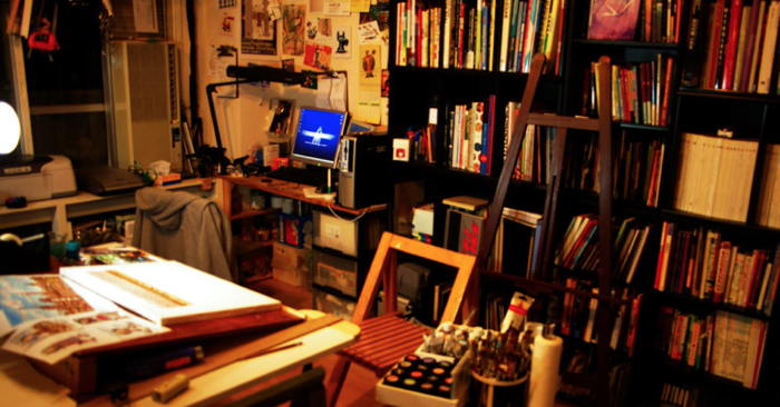 My room of My Studio (PaintMonster ArtStudio) by Marty Ito