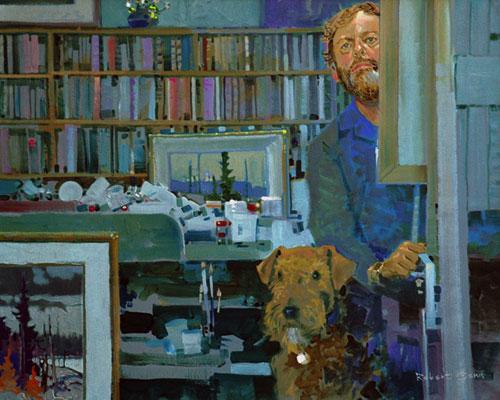 Robert Genn - Self-portrait with Emily