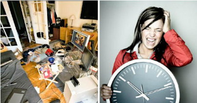 chaotic-room-clock-woman