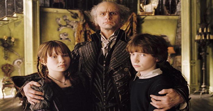 "Emily Browning, Jim Carrey, Liam Aiken in ""Lemony Snicket's A Series of Unfortunate Events"""