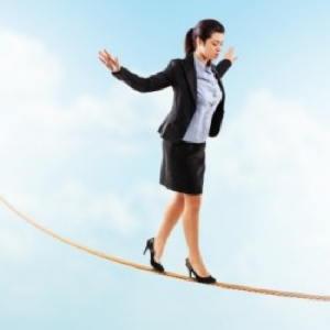 tightrope walker woman