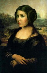 Carrie Fisher as Mona Lisa