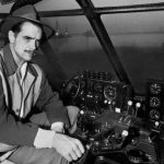Howard Hughes in cockpit