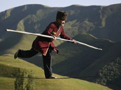Russian tightrope walker